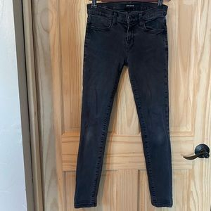 J Brand Super Skinny Graphite 25 Jeans Pants Gray